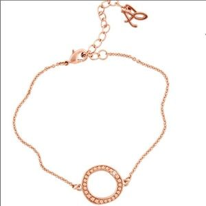 Adore by Swarovski circle bracelet in rose gold